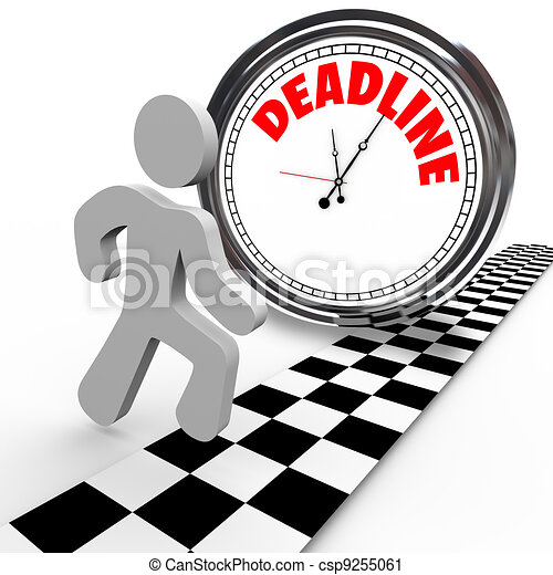 Racing Against Deadline Clock Time Countdown - csp9255061