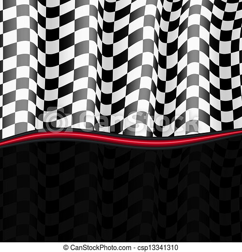Racing Background. Checkered Flag. Vector eps10 - csp13341310