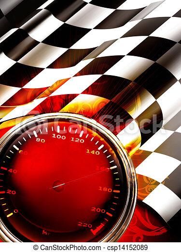 Racing Background Vertical, 10eps - csp14152089