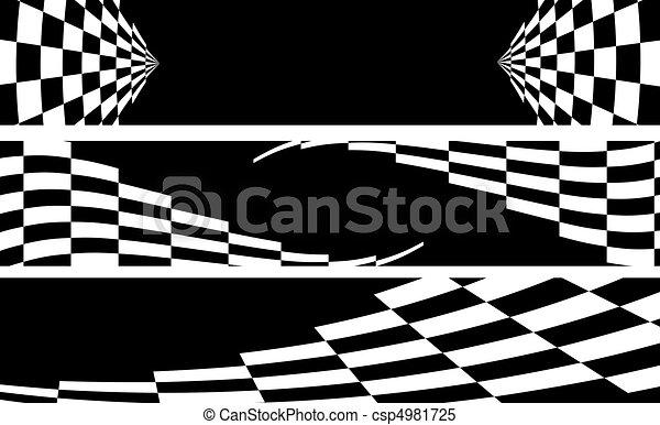 racing banner - csp4981725