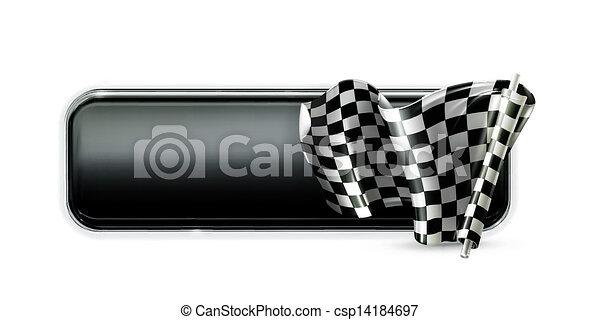 Racing banner flag - csp14184697