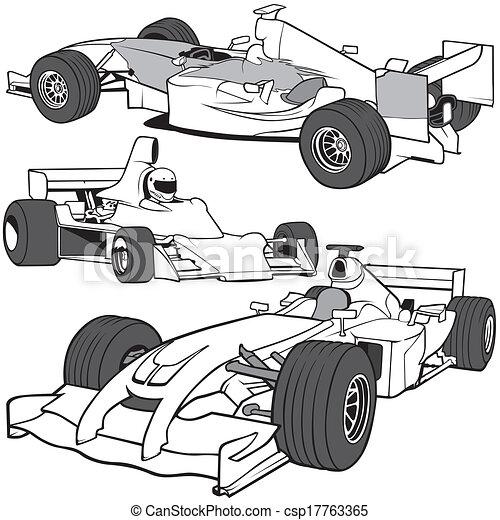 Indy Car Racing Vector Clip Art Illustrations 36 Indy Car Racing