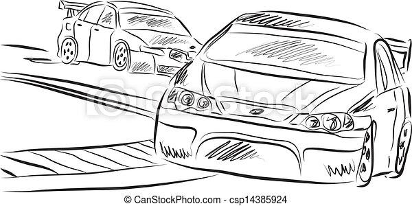 Racing Cars Illustration