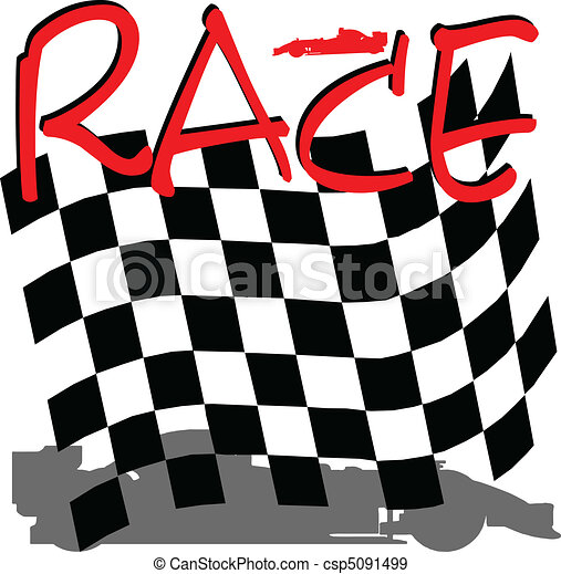 racing checkered illustration - csp5091499