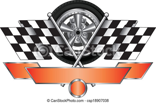 racing design with wheel illustration of a racing design with wheel