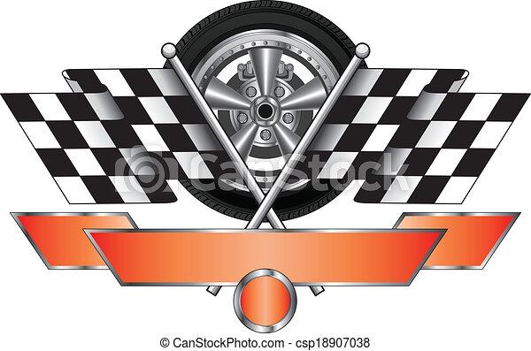 Racing Design With Wheel - csp18907038