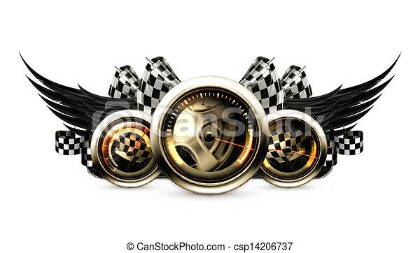 Racing emblem - csp14206737