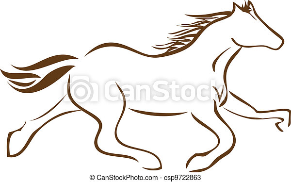 Racing Horse logo vector stock - csp9722863