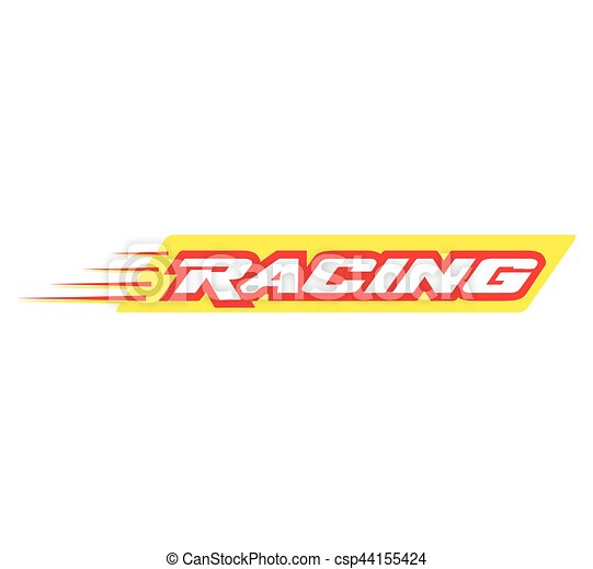 racing logo design eps 8 supported
