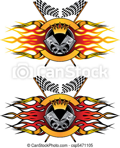 Racing symbols and icons - csp5471105