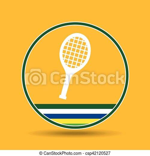 racket tennis sport badge icon - csp42120527