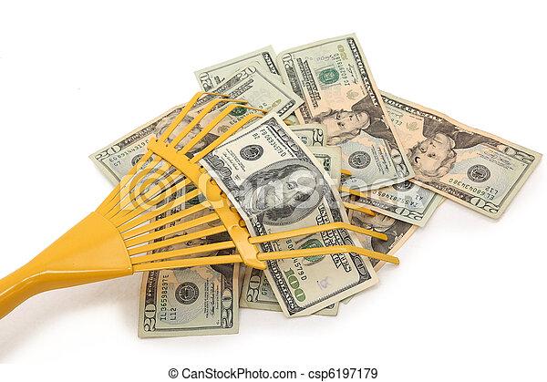 Racking in Money - csp6197179