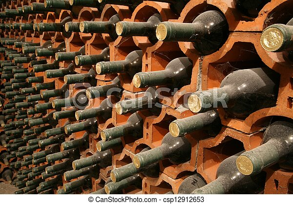 Racks with bottles  - csp12912653