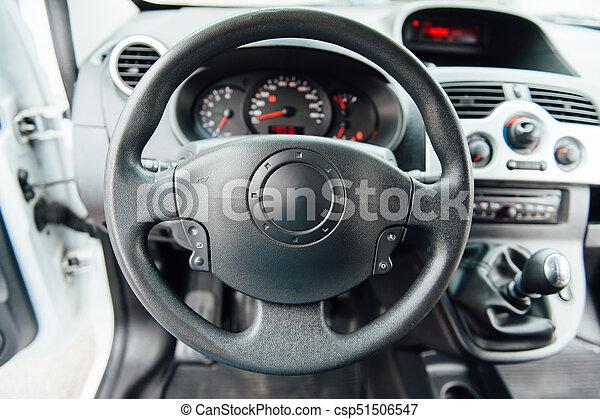 Rad, auto- innere, modern, lenkung. Salon, modern,... Stockfoto ...