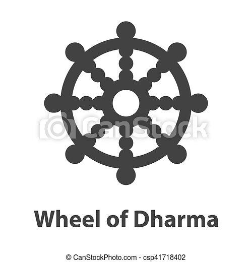 Rad Dharma Symbol Zeichen Religion Buddhismus Ikone