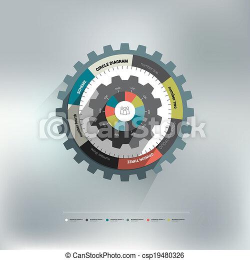 Rad, diagramm, kreis, zahn. Rad, info, graphic., diagramm,... Vektor ...