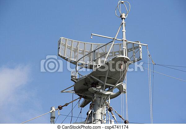 Radar of a Naval Ship - csp4741174