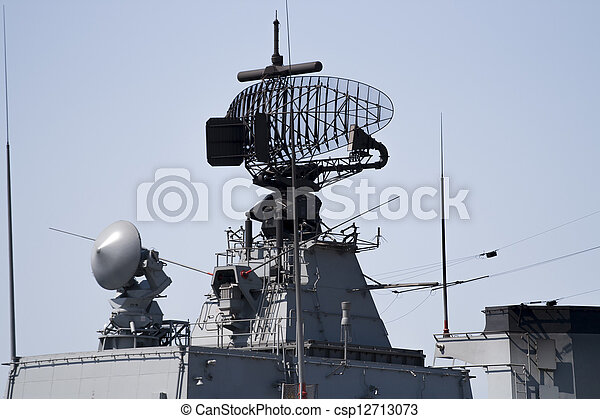 Radar of military ship - csp12713073