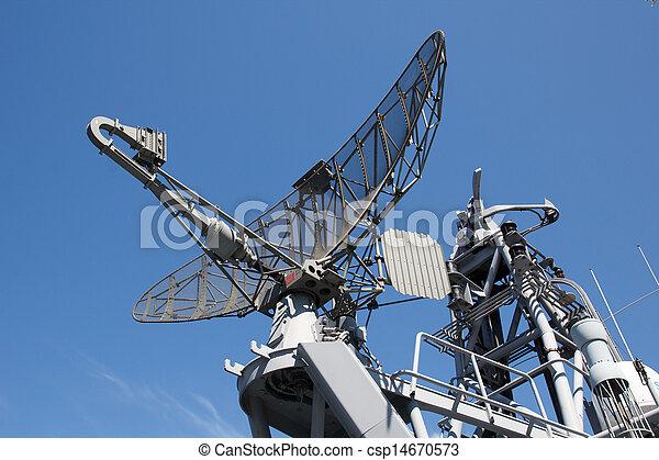 Radar on military ship - csp14670573
