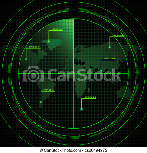 radar, scherm - csp6494975