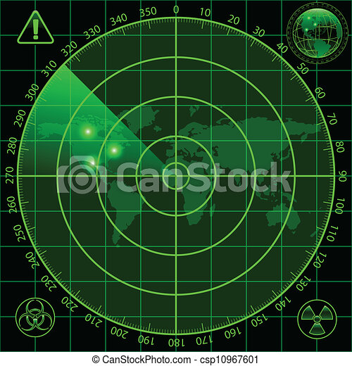 radar, scherm - csp10967601
