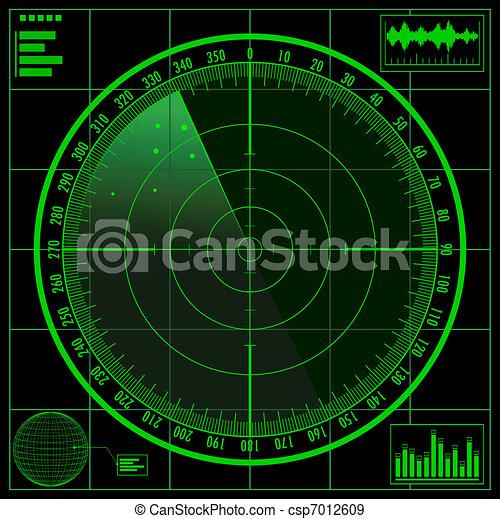 Radar screen - csp7012609