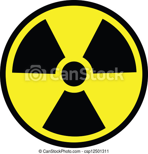 ¡Peligro de radiación - csp12501311