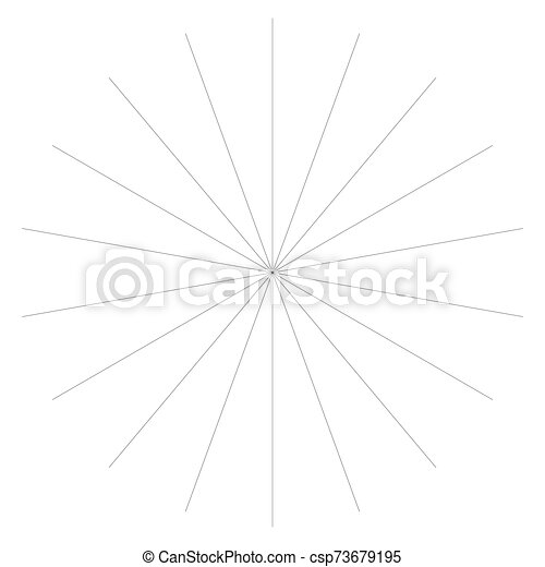 Radial burst lines circular element. Starburst, sunburst graphics. Concentric rays, beams. Sparkle, gleam, twinkle trail lines. Flare, explosion, fireworks radiance effect. Flash, glare design - csp73679195