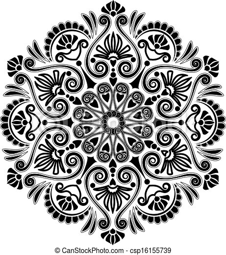 Radial Geometric Pattern New Pattern Art