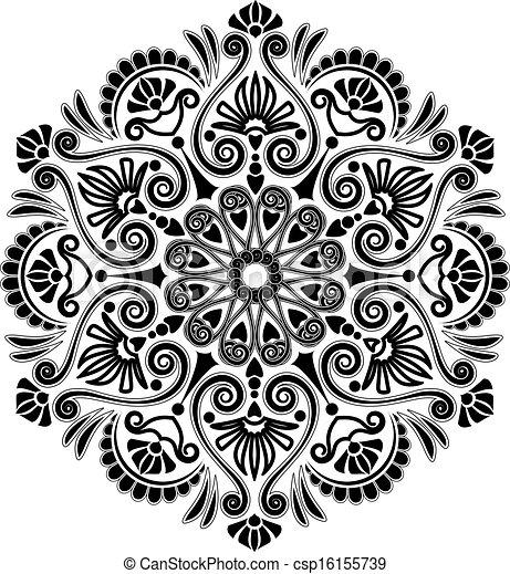 Radial Geometric Pattern New Pattern Art