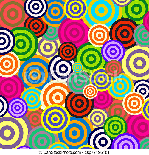 Radial Retro Psychedelic Background Pattern - csp77196181