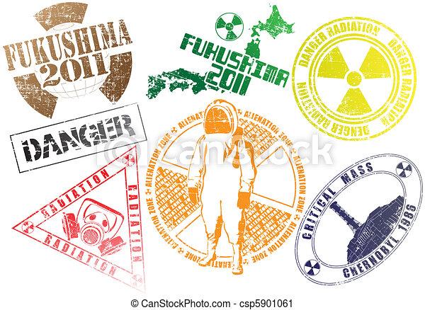 Radiating stamps a set - csp5901061