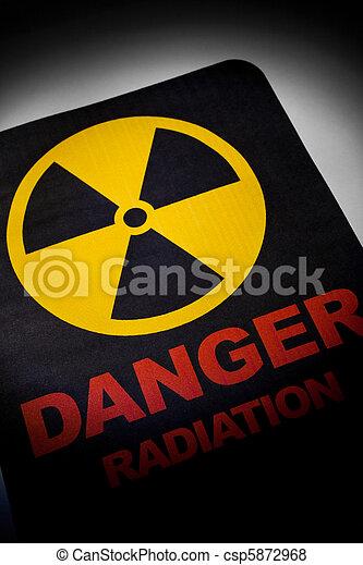 Radiation hazard sign  - csp5872968