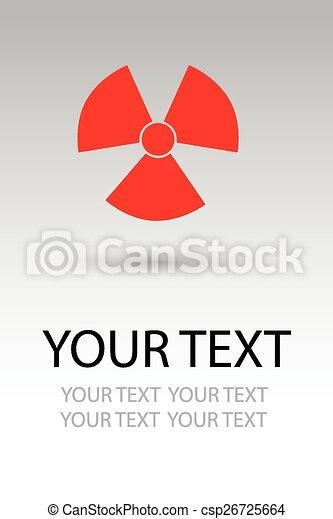 Radiation hazard symbol sign - csp26725664