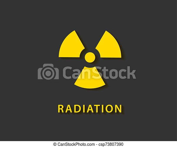 Radiation icon vector. Warning radioactive sign danger symbol. - csp73807390