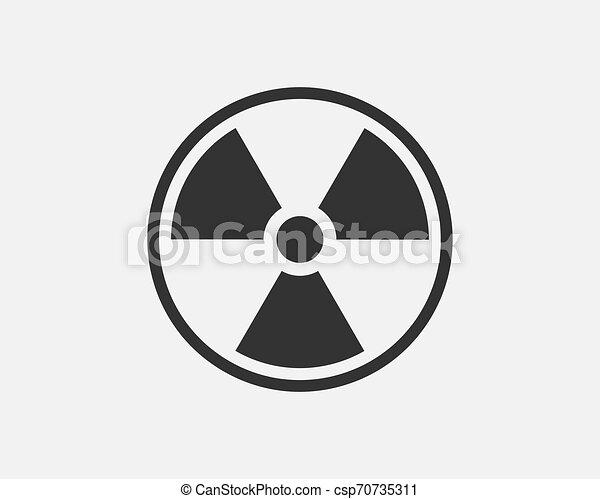 Radiation icon vector. Warning radioactive sign danger symbol. - csp70735311