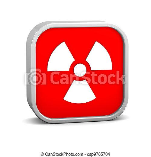 Radiation sign - csp9785704