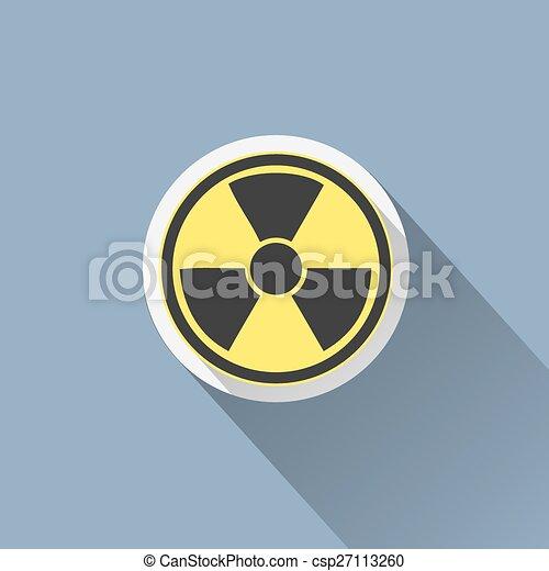 Radiation sign icon. Danger symbol. - csp27113260