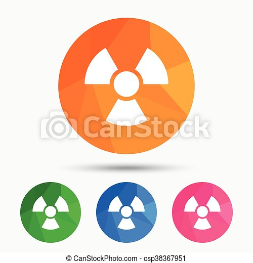 Radiation sign icon. Danger symbol. - csp38367951