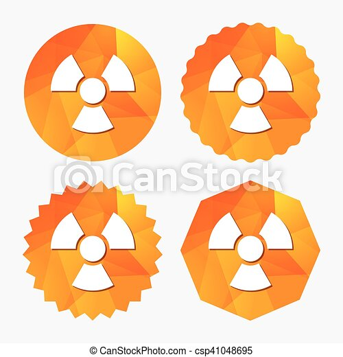 Radiation sign icon. Danger symbol. - csp41048695