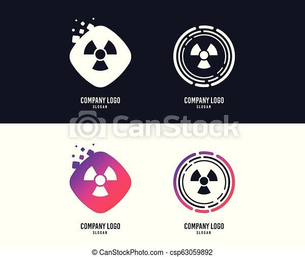 Radiation sign icon. Danger symbol. Vector - csp63059892