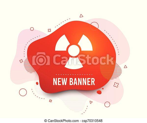 Radiation sign icon. Danger symbol. Vector - csp70310548