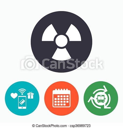 Radiation sign icon. Danger symbol. - csp36989723