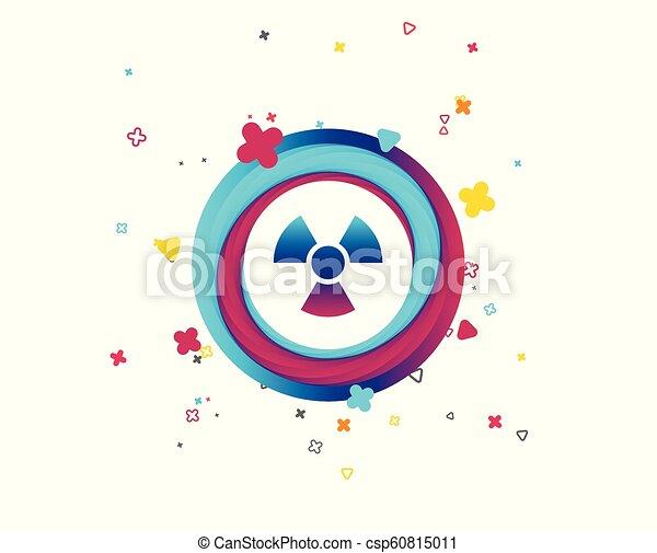 Radiation sign icon. Danger symbol. - csp60815011