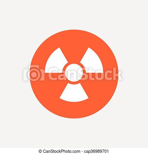 Radiation sign icon. Danger symbol. - csp36989701