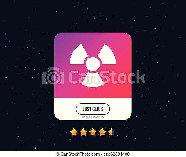 Radiation sign icon. Danger symbol. Vector - csp62831400