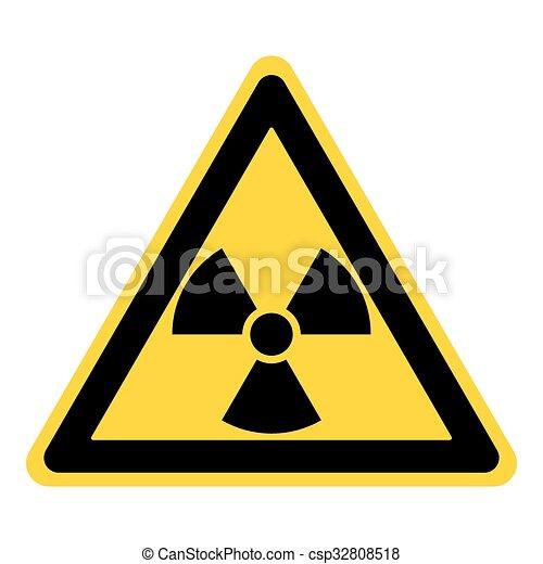 Radiation Sign Yellow Radiation Hazard Sign Symbol Of Radioactive