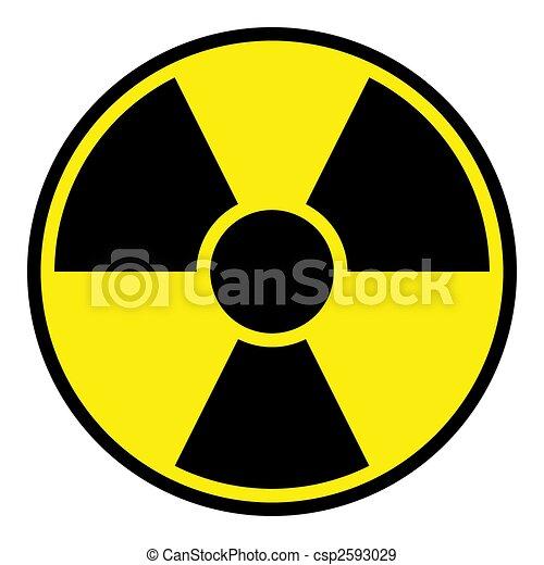 Radiation Warning Sign - csp2593029
