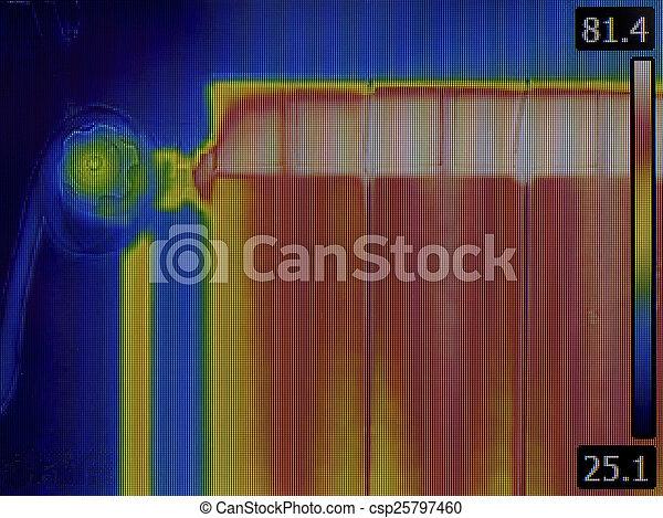 Radiator Heater Thermal Image - csp25797460