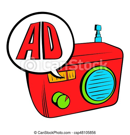 radio advertising icon cartoon radio advertising icon in stock rh canstockphoto com  internet advertising clipart
